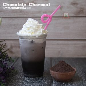 chocolate charcoal minuman